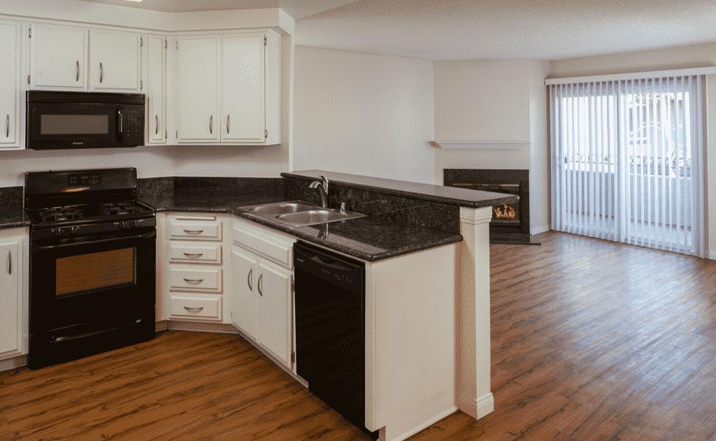 Spacious Countertops and open concept floor plan